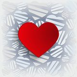 Heart with  decorative background Royalty Free Stock Photos