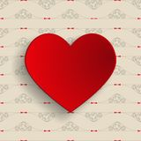 Heart with decorated background Stock Images