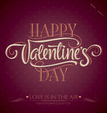 Valentines hand lettering (vector) Stock Photos