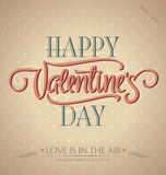 Valentines hand lettering (vector) Royalty Free Stock Photos