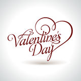 Valentine's headline Royalty Free Stock Photos