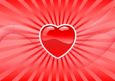 Valentine's heart. Abstract vector illustration of a valentine's heart over a red background Stock Photography