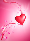 Valentine's Heart With Butterflies Royalty Free Stock Photos