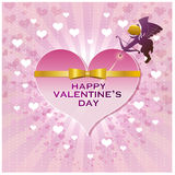 Valentine's heart with cupid Stock Photos