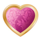 Valentine's heart with florals Stock Photo