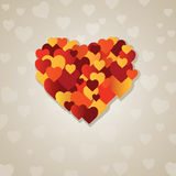 Valentine's  heart.  illustration Royalty Free Stock Photos