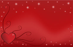 Valentine's heart with ornament. And stars royalty free illustration