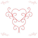 Valentine's Heart - Ornate Outlines Stock Image