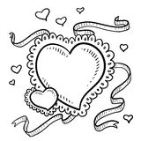 Valentine's Heart with ribbons Stock Image