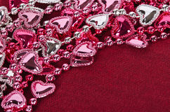 Valentine's heart shaped beads Stock Photography