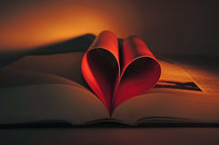 Valentine's heart shaped book Stock Photo
