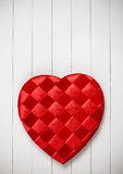 Valentine's: Heart Shaped Candy Box on White Stock Photos