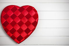 Valentine's: Heart Shaped Candy Box on White Stock Image