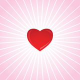 Valentine's Heart Shining. Power of Love - Illustration of a heart shining pink aura - EPS vector available Royalty Free Stock Photos