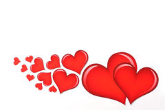 Valentine\'s heart on white 3 Stock Photo