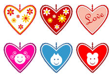 Valentine's hearts Stock Photography