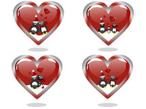 Valentine`s hearts Royalty Free Stock Images