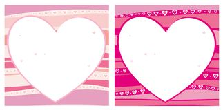 Valentine's hearts. Background with space for text Stock Illustration