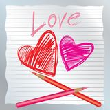 Valentine's hearts Royalty Free Stock Image