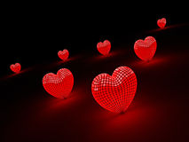 Valentine's hearts Stock Images
