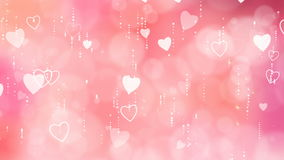 Valentine`s Hearts Background. stock video footage