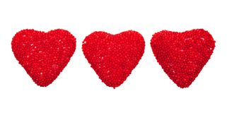 Valentine's hearts candy Stock Image