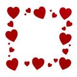 Valentine's hearts frame Royalty Free Stock Photos
