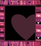 Valentine's hearts frame. Background with space for text. To see more valentines elements, please visit my gallery Stock Illustration
