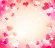 Valentine's holiday frame background.Empty copy space. Royalty Free Stock Image
