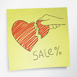 Valentine`s holidays sale concept. Stock Images