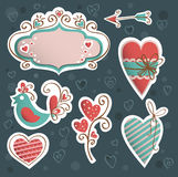 Valentine's icon vector set Stock Photography