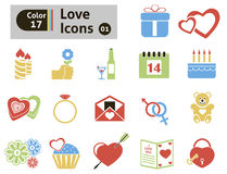 Valentine's  icon Royalty Free Stock Photos
