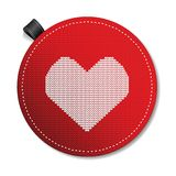Valentine's knitted  heart Stock Photo