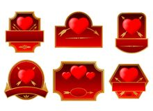 Valentine's labels Royalty Free Stock Images