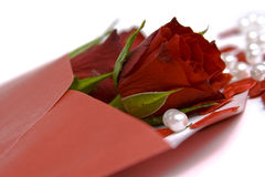 Valentine's letter Royalty Free Stock Images