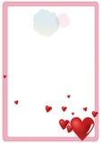 Valentine's letter frame Royalty Free Stock Image