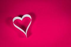 Valentine& x27 ; s, livre blanc de coeur Photos stock
