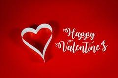 Valentine& x27 ; s, livre blanc de coeur Image libre de droits