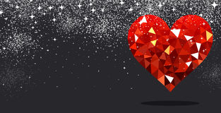 Valentine`s love background with heart. Royalty Free Stock Photos