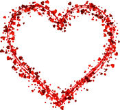 Valentine`s love background with heart. Valentine`s love background with red heart. Vector paper illustration Royalty Free Stock Photos