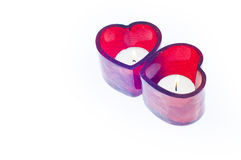Valentine's love candle Royalty Free Stock Image