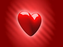 Valentine's Love Heart 3D. Valentine's day 3d heart render Royalty Free Stock Photo