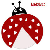 Valentine's love lady bug Royalty Free Stock Photography