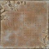 Valentine's Love Scrapbook Background stock illustration