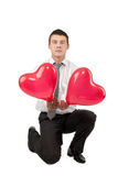 Valentine's Man Stock Photography