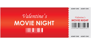 Valentine's movie night Stock Photos