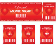 Valentine's movie night Stock Photography
