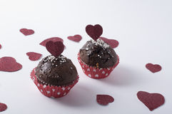 Valentine`s muffin Royalty Free Stock Photos