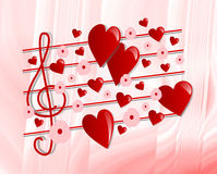 Valentine S Music Royalty Free Stock Images