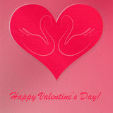 Valentine's Paper Greeting Card Stock Photography
